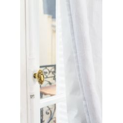 White Soundproof Curtain Linda Moondream Premium