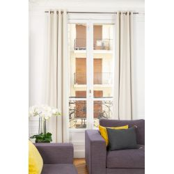 Off-white 3-in-1 Soundproof Thermal Blackout Curtain Linda Moondream Premium