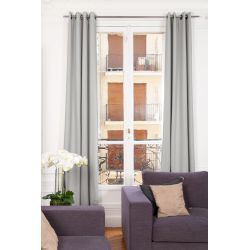Grey Soundproof Curtain Linda Linen Ashes MC07 Moondream Premium