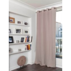 Beige Linen effect Dim-out Curtain Country Baby MC15