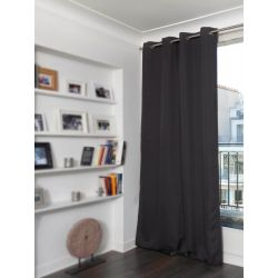 Deep Brown Linen effect Dim-out Curtain Country Baby MC9017