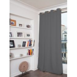 100% Total Blackout Velvet Curtain Venise Mid Grey MC09