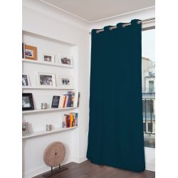 Blue 3-in-1 Soundproof Thermal Blackout Custom Curtain MC56
