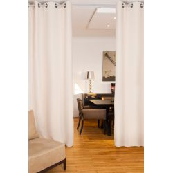 Eggshell Beige Soundproof Room Divider Curtain MC634