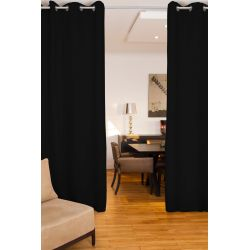 Black Soundproof Room Divider Curtain MC710