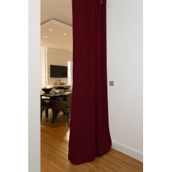 Deep Red Soundproof Room Divider Curtain MC330