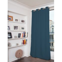 3-in-1 Soundproof Thermal Blackout Curtain Velvet Curtain Venise Dark Teal MC56