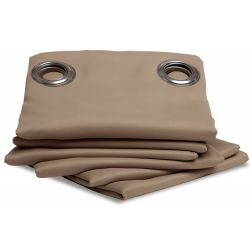 Light Brown Thermal Blackout Curtain MC8220