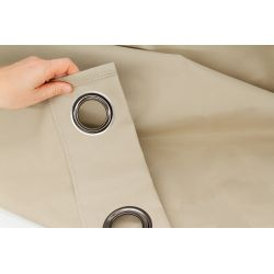 100% Total Blackout Curtain Revolution Light Beige MC651
