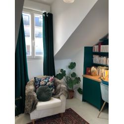 3-in-1 Soundproof Thermal Blackout Curtain Velvet Curtain Venise Green MC228