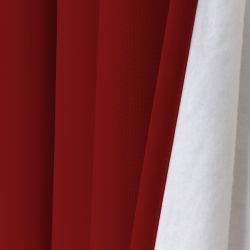 Red 3-in-1 Soundproof Thermal Blackout Curtain MC310