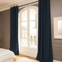 Blue 3-in-1 Soundproof Thermal Blackout Curtain MC458