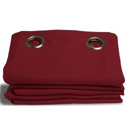 Deep Red Cotton pique effect Blackout Curtain MC330