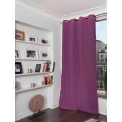 Purple Cotton pique effect Blackout Curtain MC119