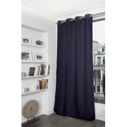 Dark Blue Blackout Curtain MC412