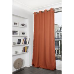 Brick Orange Blackout Curtain MC374