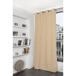 Light Beige Blackout Curtain MC651