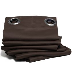 Brown Thermal Blackout Curtain MC610