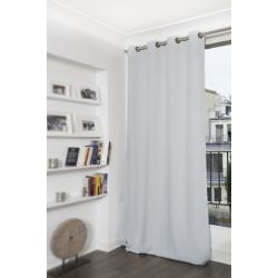 Pale Grey Blackout Curtain MC733