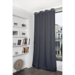 Dark Grey Thermal Blackout Curtain MC713