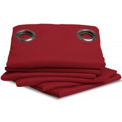 Red Thermal Blackout Curtain MC310