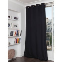 Black Thermal Blackout Curtain MC710
