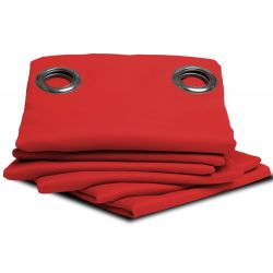 Bright Red Blackout Curtain MC51