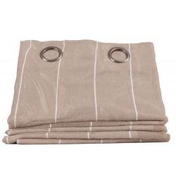 Beige Thermal Linen Sheer...