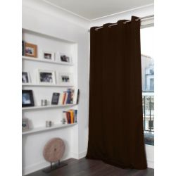 Brown 3-in-1 Soundproof Thermal Blackout Curtain MC610