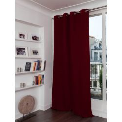 Deep Red 3-in-1 Soundproof Thermal Blackout Curtain MC330