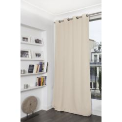 Beige Mosquito-Repellent Blackout Curtain Eggshell MC634