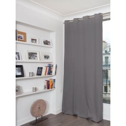 Mid Grey Mosquito-Repellent Blackout Curtain MC09