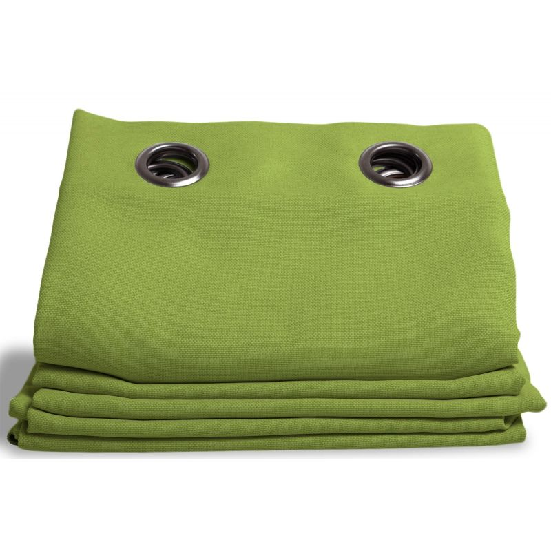 Apple Green Linen effect Dim-out Curtain Country Baby MC566