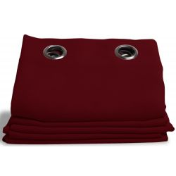 Red Linen effect Dim-out Curtain Country Baby Cherry MC11