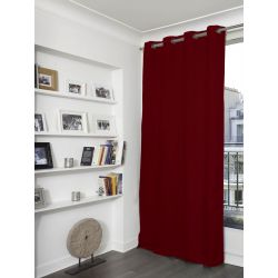 Red Linen effect Dim-out Curtain Country Baby MC11