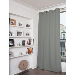 Green Grey Thermal Blackout Curtain MC704