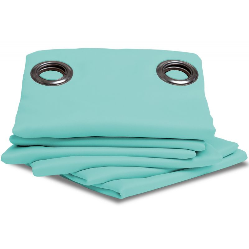 Turquoise Blue Thermal Blackout Curtain MC430