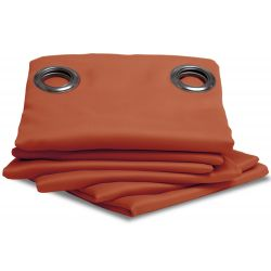 Brick Orange Thermal Blackout Curtain MC374