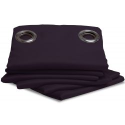 Purple Thermal Blackout Curtain Aubergine MC333