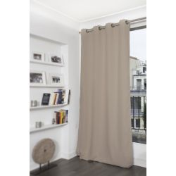 Fire Retardant Blackout curtain Taupe Moondream