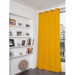 Yellow 3-in-1 Soundproof Thermal Blackout Curtain MC243