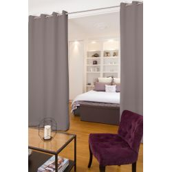 Grey Soundproof Room Divider Curtain Pepper MC7305