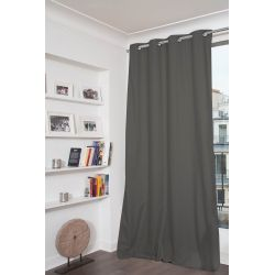 Dark Grey 100% Total Blackout Curtain Dream MC713