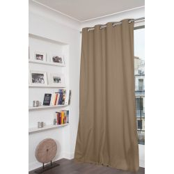 Light Brown 100% Total Blackout Curtain Dream MC8220