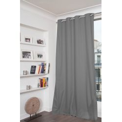 Mid Grey 100% Total Blackout Curtain Dream MC09