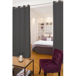 Grey Soundproof Room Divider Curtain Metal MC732