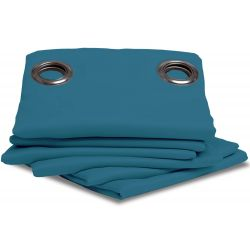 Dark Teal Thermal Blackout Curtain MC56