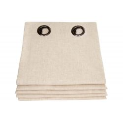Beige Thermal Curtain Washed Linen Natural MC721 Moondream Premium