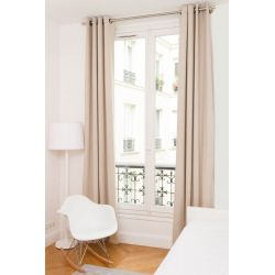 Beige Thermal Curtain Washed Linen MC721 Moondream Premium