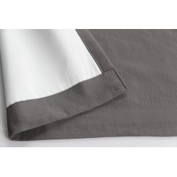 Dark Grey 100% Total Blackout Curtain Washed Linen MC713 Moondream Premium